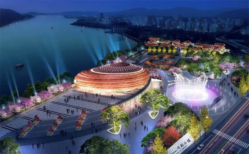 中国沙湾沫若戏剧小镇《乐山小镇》日前正式开放