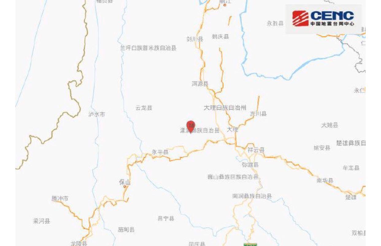 中国:云南漾濞连续地震多地震感强烈 救援力量正在集结