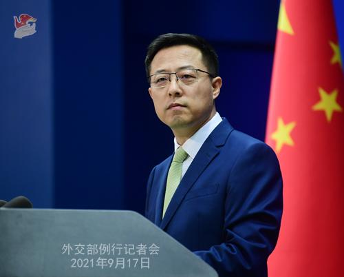 中国外交部发言人赵立坚例行记者会